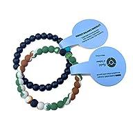 2 Balance Bracelets, Silicone Beaded…