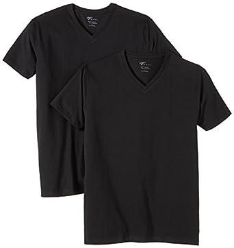 Venti Herren T-Shirt 2 er Pack Slim Fit 001660/800, Gr. 48 (S), Schwarz (800 schwarz)