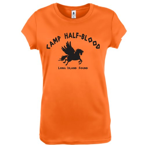 Camp Half Blood Cool Percy Jackson Halloween Costume Womens Shirt Small Orange