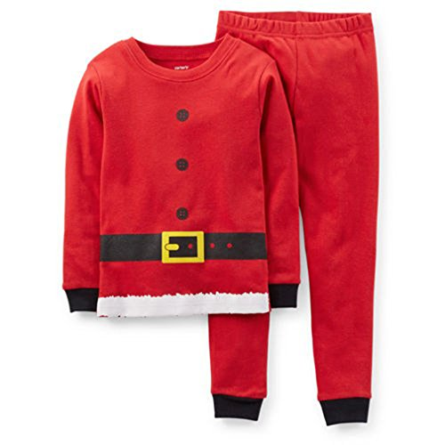 Carter's Little Boys' 2 Piece Santa Suit Pajamas (2 Toddler, Red)
