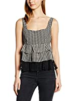 Guess Top (Negro / Blanco)