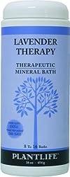 Plantlife Lavender Therapeutic Mineral Bath Salt- 16 oz.