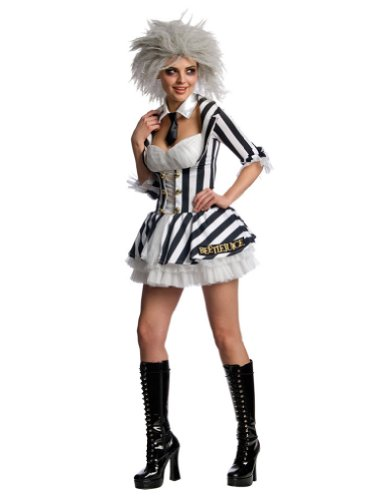 Beetlejuice Sexy Adult Costume Lg Halloween Costume