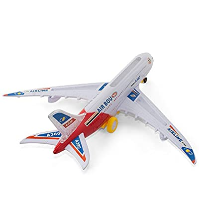 Kidsthrill Bump And Go Electric Air Bou A380 Kids Action Airplane - Big Model Plane With Attractive Lights And Sounds - Changes Direction On Contact - Best For Kids Age 3 And Up. (Colors May Vary) from Kidsthrill