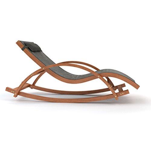 Sdraio alta qualit e sedia a dondolo con cuscino testa for Sdraio a dondolo amazon