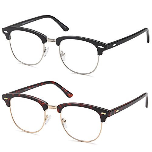 GAMMA RAY READERS 2 Pairs Men's Readers Quality Spring Hinge Reading Glasses for Men (Full Reading Glasses compare prices)