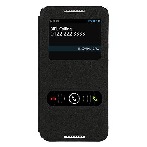 HTC Desire 820s dual sim Case : [Cubix] [Sparkle Series] Slim Flip Cover Case For HTC Desire 820s dual sim (Black)