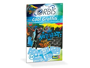 Orbis - Airbrush für Kinder   30204 Schablonen-Set Cool Graffiti