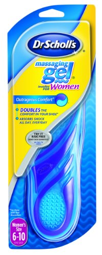 Dr. Scholl's Massaging Gel Insoles, Women's 6-10, 1 pair (Pack of 2)
