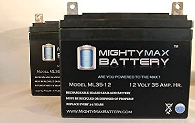 12V 35AH Light Trolling Motor Battery Sevylor Minn Kota Golf Cart - 2 Pack - Mighty Max Battery brand product