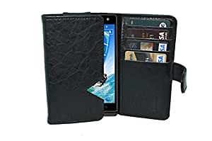 TOTTA PU Leather Wallet Pouch with Card Holder Xolo Win Q1000