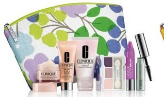 Clinique-2014-Fall-7pcs-Skin-Care-and-Makeup-Gift-Set-Violet-Color-Including-New-Released-Chubby-Stick-Baby-Tint-Moisturizing-Lip-Color-Balm-Lash-Doubling-Mascara-Moisture-Surge-Intense-Skin-Fortifying-Hydrator-and-More