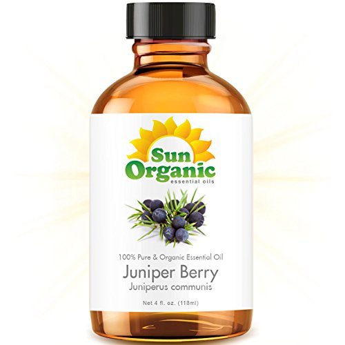 Juniper Berry - Large 4 Ounce - Organic, 100% Pure Essential Oil (Best 4 Fl Oz / 118Ml) - Sun Organic