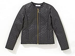 RKids Little Girls Padded Faux Leather Jacket