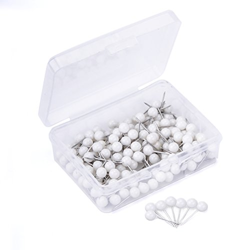 joyfamily-map-tacks-push-pins-1-5-inch-round-head3-5-inch-total-length-package-of-150-pcs-white