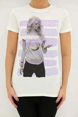 Striped Tee White & Purple XXL