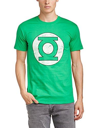 Green Lantern - Maglietta, Manica corta, Uomo, verde (Irish Green), L