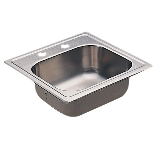 Moen KG2045622 2000 Series Single Bowl Drop-In Sink, 20-Gauge, Stainless Steel