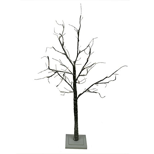 4' Led Lighted Flocked Christmas Twig Tree Outdoor Yard Art Decoration - Warm Clear