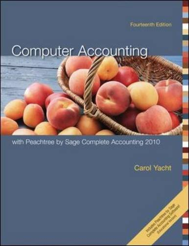 Computer Accounting With Peachtree Complete 2010,