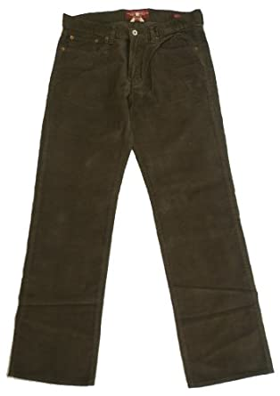 Lucky Brand 361 Vintage Straight Men's Corduroy Pants (36 x 32, Dark Brown)