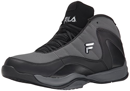 Fila Men's Sweeper Basketball Shoe, Castlerock/Black/Metallic Silver, 12 M US