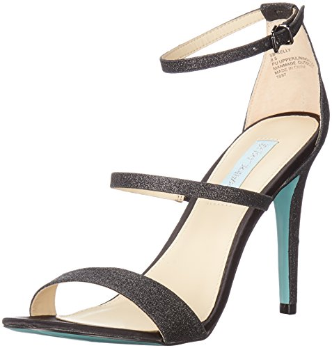 Blue by Betsey Johnson Women's Sb-Kelly Dress Sandal, Black Glitter, 7.5 M US