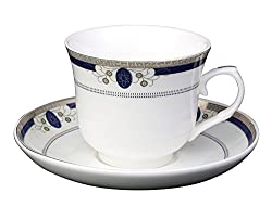 Aspirationz Cup & Saucer Set (6 Cups-6 Saucers) (New Bone China)