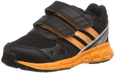 adidas Unisex - Baby HyperFast CF First Walking Shoes multi-coloured Mehrfarbig (black/tech grey met. s14/solar zest) Size: 21