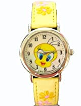 Looney Tunes Tweety watch : embroidered band