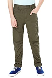 Pure Cotton Adjustable Waist Buckle Chinos