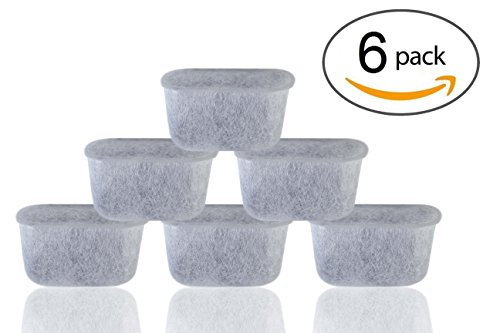 Single K-cup Brewer Charcoal Water Filters for Keurig B40, B60, B65, B70, B75, K40, K45, K50, K65, K70 - 6 Pack+ by Brewslang (Keurig K45 White compare prices)