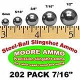 202 pack 7/16' Steel-Ball slingshot ammo (2-1/2 lbs)