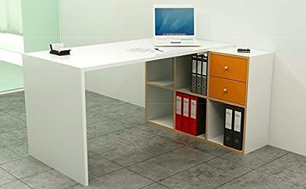 Postazione Lavoro Home Office Libreria 6 Caselle Serie Eco Cm 140X104,1X72,4H