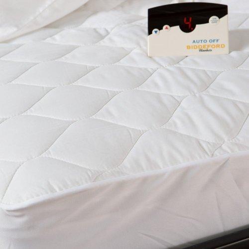Biddeford Blankets Biddeford Blankets Quilted Skirt Electric Warming Mattress Pad, White, Polyester, King