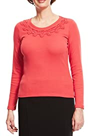 Pure Cotton Cornelli Top with StayNEW� [T58-3547-S]