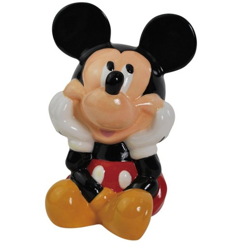 Westland Giftware Ceramic Coin Bank, 5.5-Inch High, Disney Mickey Mouse - 1