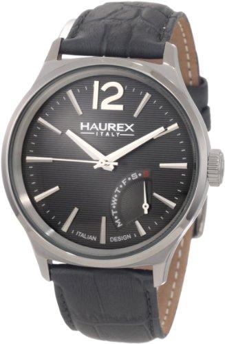 Haurex Italy - 6J341UG1 - Montre Homme - Quartz - Analogique - Bracelet cuir gris
