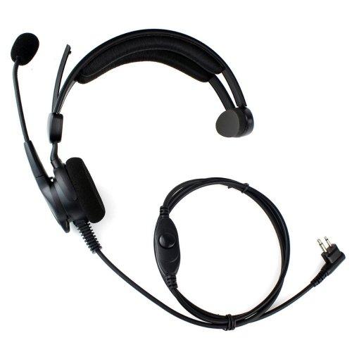 Advance Adjustable Overhead Earpiece Headset Boom Mic Microphone Noise Cancelling For 2-Pin Motorola Radio Cp040 Cp200 Xtni Dtr Vl50