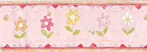 Bumble Bees & Daisies - Girls Wallpaper Wall Border