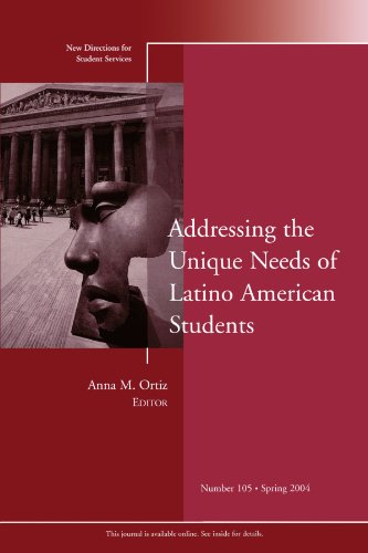 Addressing the Unique Needs of Latino American Students: New Directions for Student Services, Number 105