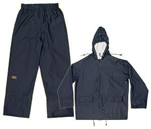CLC Rain Wear R108L Navy Blue Polyurethane 2-Piece Suit, Large
