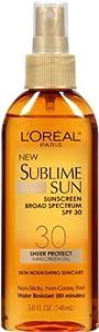 L'Oreal Paris Spf 30 Sublime Sun Oil Spray, 5 Fluid Ounce (Pack of 3)