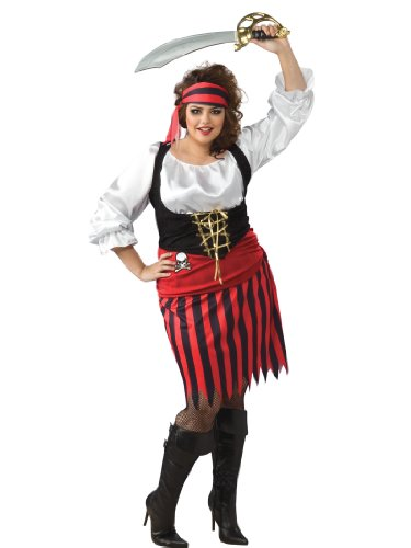 Plus Size Pirate Costume Wench Mate Ship Crew Boat Womens Theatrical Costume