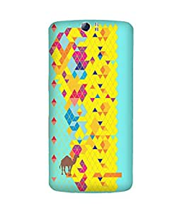 Stripes And Elephant Print-52 Oppo N1 Case