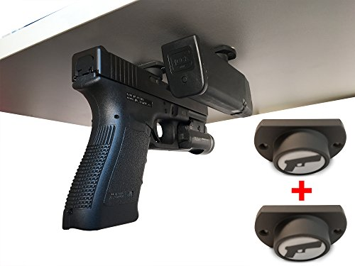 2-Pack | Gun Magnet w/ Adhesive Backing | Car Holster | Bedside Holster | Steering Wheel Gun Holster | Under The Desk Pistol Holster | Gun Holsters For Cars | Vehicle Gun Mount | Pistol Holster In Car (Steering Wheel Holster Mount compare prices)