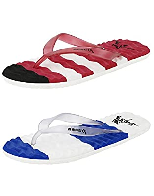 Kraasa Slippers (Pack of 2) SlippersCombo