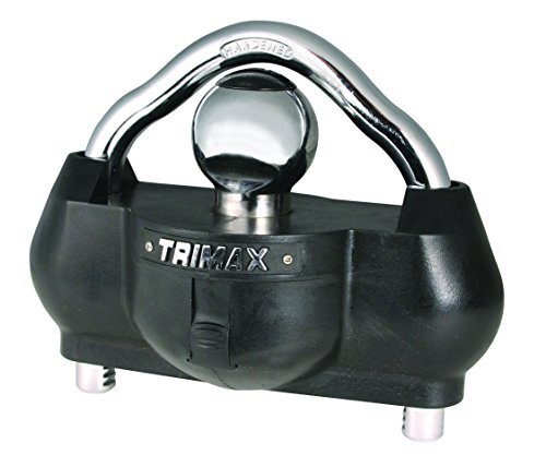 Trimax UMAX100 Premium Universal 'Solid Hardened Steel' Trailer Lock (fits all couplers) (Trailer Tongue Lock compare prices)