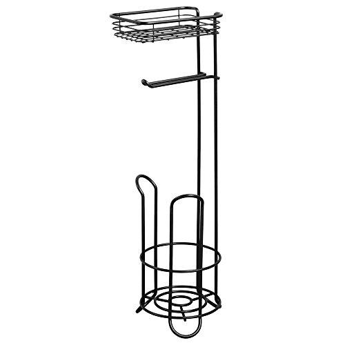interdesign-classico-porta-carta-igienica-da-terra-con-mensola-per-bagno-in-acciaio-colore-nero-opac