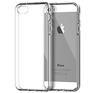 iPhone 5s Funda, JETech Slim Fit iPhone 5 5s Funda Carcasa Case Bumper con Absorción de Impactos y Anti-Arañazos Espalda para Apple iPhone 5/5s (HD Clara)